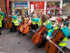 Cellos at Cabot Circus 2017