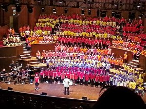 Ebony Tunnicliffe, one of the Preludes children, singing a solo at the Colston Hall Juniors summer concert