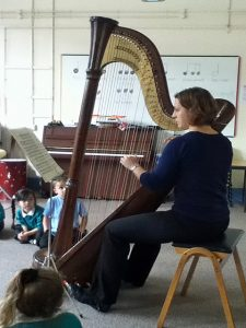 Kate Watt from the Bristol Ensemble captivated the audience with the sound of the harp