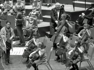 Cellos tango-ing with the Bristol Ensemble